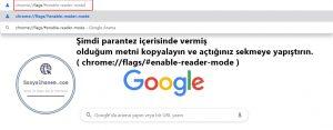 Chrome Okuma Modu Nedir Nasıl Aktif Edilir 1