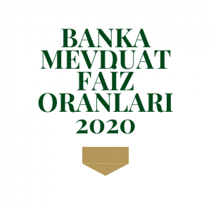 Banka Mevduat Faiz Oranları 2020